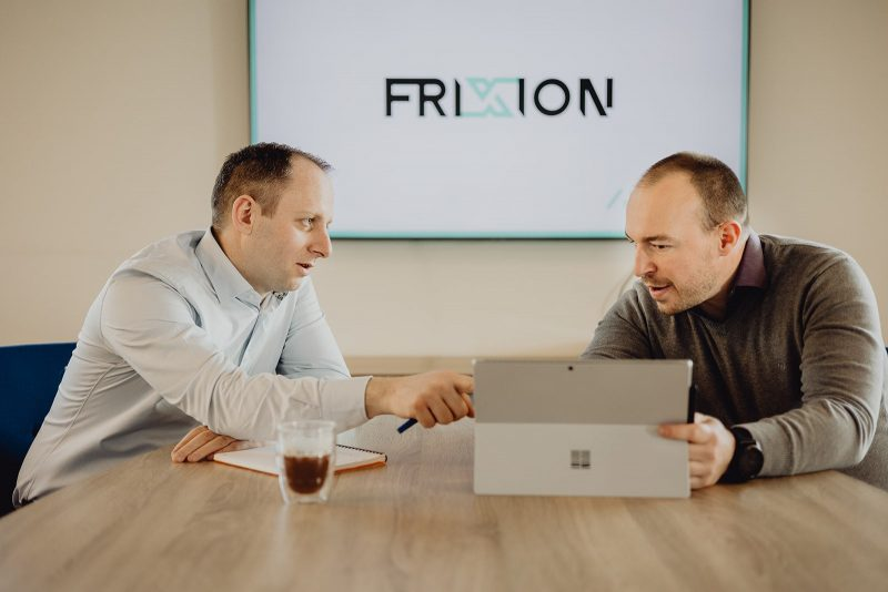 Sfeerbeeld van het team van Frixion